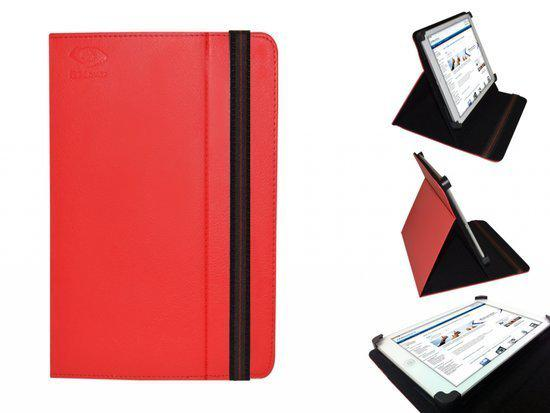 Point Of View Mobii 925 Cover, Handige Standen Hoes, Multi-stand Case, Kleur Rood, merk i12Cover in Pasop