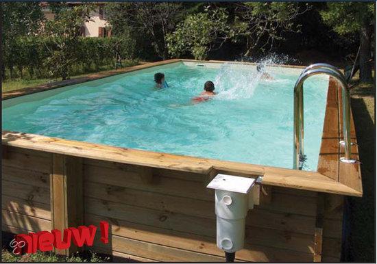 Houten zwembad compleet - Houten strand zwembad ...
