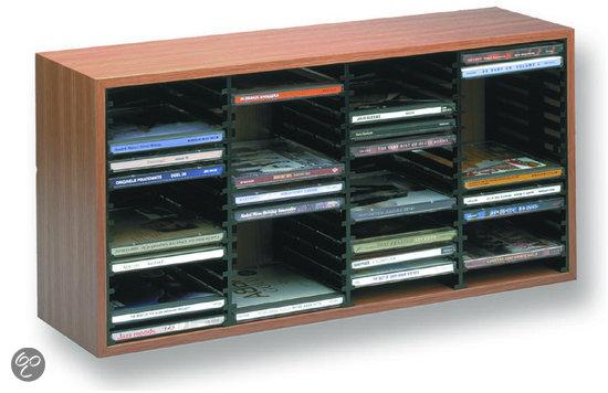 Cd rek houten cd box voor 60 cds beuken - Wereld thuis cd rek ...