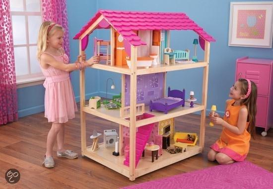Kidkraft so chic poppenhuis kidkraft speelgoed for Poppenhuis voor barbie