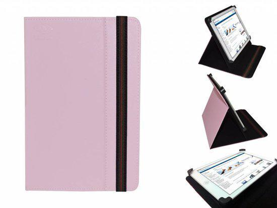 Uniek Hoesje voor de Alcatel One Touch Tab 7 Dual Core - Multi-stand Cover, roze , merk i12Cover in Beringe