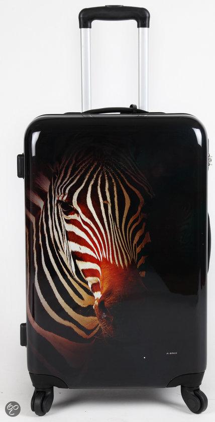 adventure bags koffer zebra print 60 cm. Black Bedroom Furniture Sets. Home Design Ideas