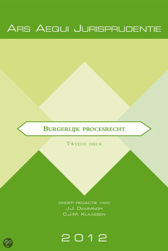 Burgerlijk procesrecht / 2012