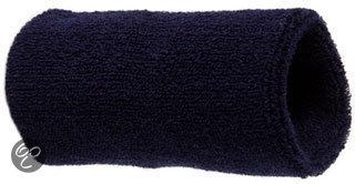 Benza Pols Zweetbandjes - Donkerblauw - 12 cm - 2 stuks