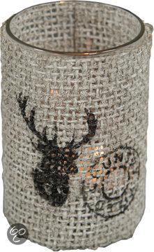 Decostar Wash Waxinelichthouder Kerst - Wit
