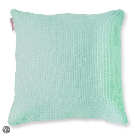 bol.com : Cottonbaby Wafel - Sierkussen - 40x40 cm - Mint : Wonen