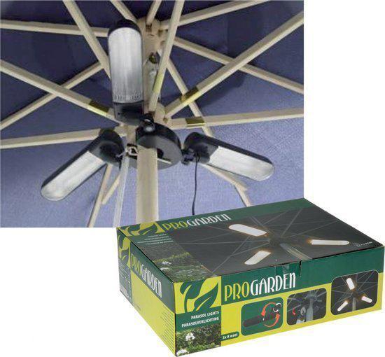 parasolverlichting 3 x 8 watt 12 volt 3 lampen