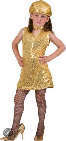 2392a612d81e83 Showgirl jurkje goud voor meisjes 164