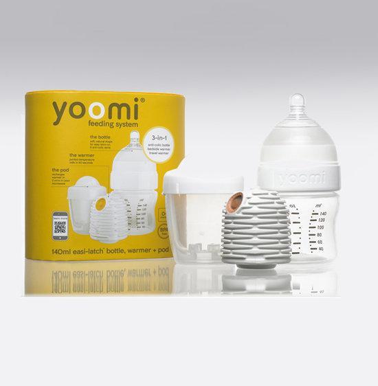 Yoomi - Fles 140 ml inclusief flesspeen, verwarmer en pod
