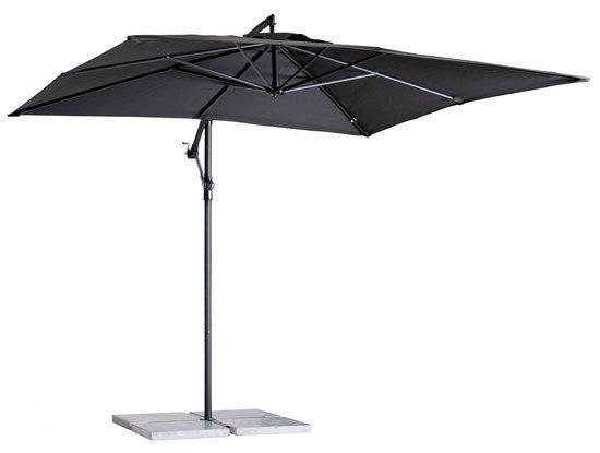 Zweefparasol Zwart Vierkant.Madison Parasol Madera Vierkant 250x250 Cm Zwart