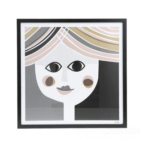 Mrs. Poster - Ferm Living-50 x 50 cm. - vierkant