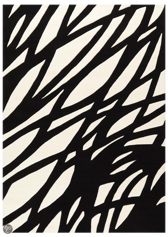 Arte Espina Design Vloerkleed Optical Art - Zwart / Wit 170 X 240 cm
