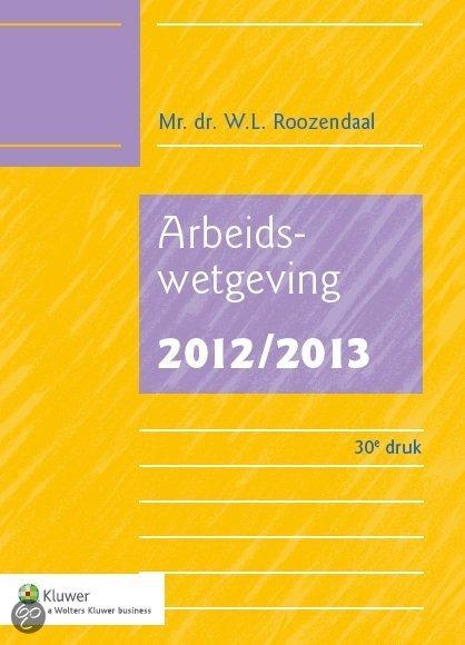 Arbeidswetgeving / 2012/2013