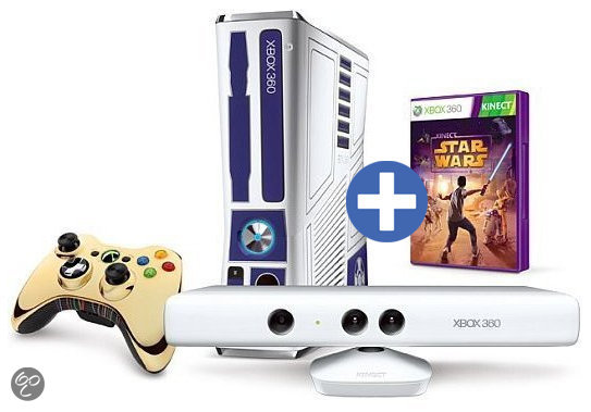 Microsoft Xbox 360 320GB + Kinect Star Wars + Draadloze Controller - Limited Edition