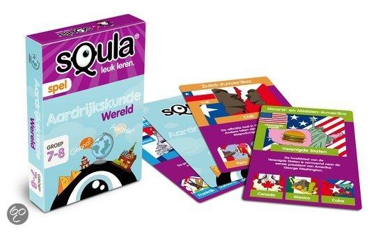 Thumbnail van een extra afbeelding van het spel Squla Aardrijkskunde - Kaartspel