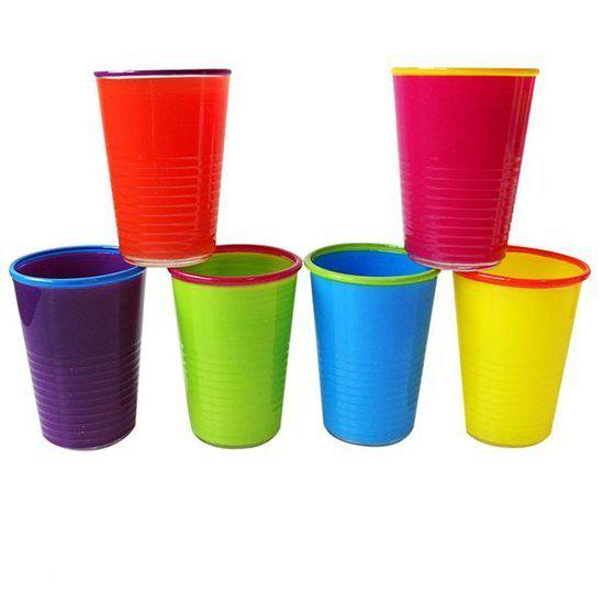 Colour Your World Picknickglazen - 0,27 l - 6 stuks - Multi