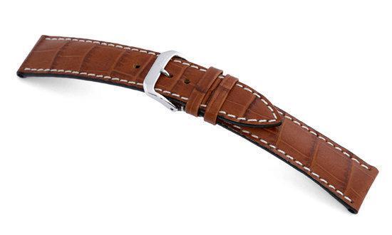 Rios1931 Horlogeband -  New Orleans Cognac - Leer - 20 mm