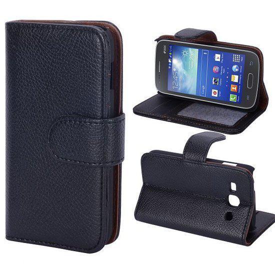 Cas De Retournement De Luxe Noir Pour Samsung Galaxy Ace 3 T5bmOD4Nq