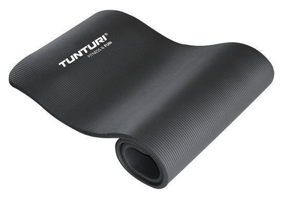 Tunturi - Fitnessmat - 180 cm x 60 cm x 1,5 cm - Zwart
