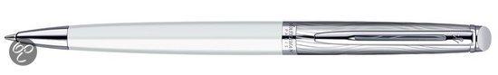 Waterman Hémisphère Deluxe White CT Balpen - Medium Penpunt - Blauwe inkt