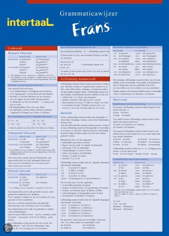 Grammaticawijzer Frans