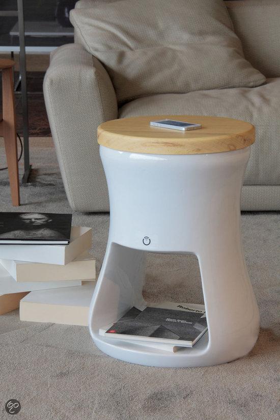 Ecotono 0205 B - Bijzettafel & Bluetooth Speaker Wit voor €199