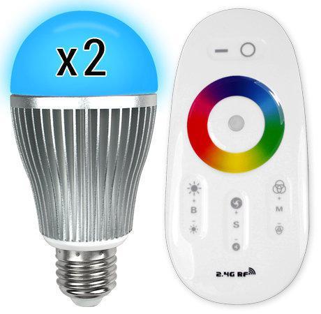 bol.com | 2X RGB kleur led lamp met afstandsbediening, 6WLED lamp
