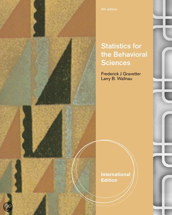 Statistics for the Behavioral Sciences, International Edition