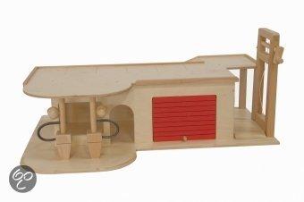 Houten Garage Speelgoed : Bol van dijk toys houten garage met verdiepingen en lift