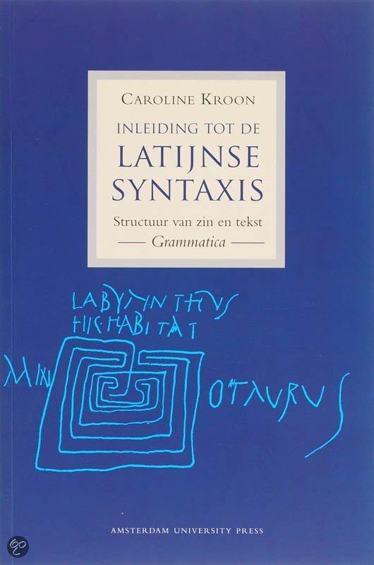 Inleiding tot de latijnse syntaxis