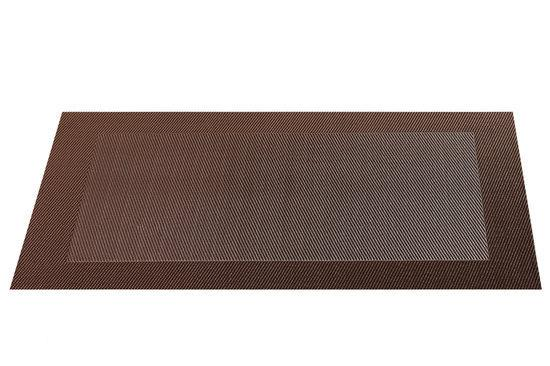 ASA Selection Geweven Rand Placemat -  33 x 46 cm - Bruin
