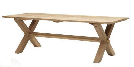 stevige houten tuintafel