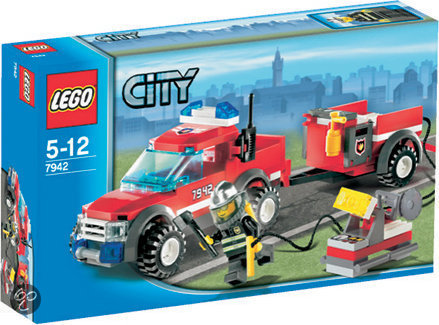 lego city brandweer pick up truck 7942 lego. Black Bedroom Furniture Sets. Home Design Ideas