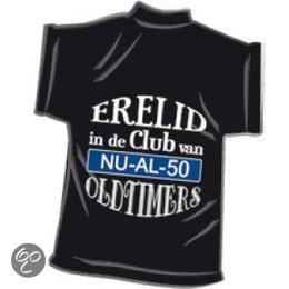 t shirt abraham 50 jaar bol.| Zwart mini T Shirt Erelid in de club van oldtimers 50  t shirt abraham 50 jaar
