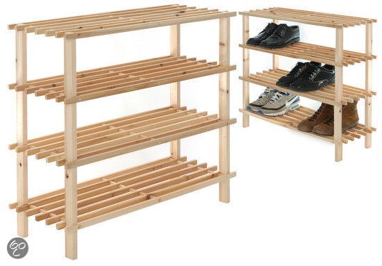 bol.com : dsm Schoenenrek 4-laags schoenenrek hout
