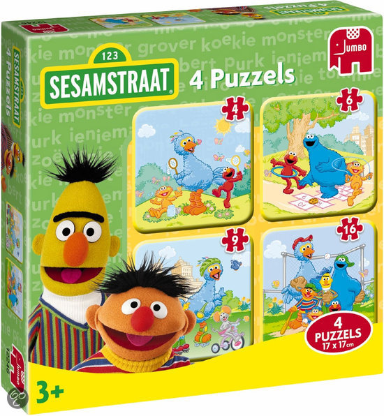 Sesamstraat 4-in-1 Puzzel
