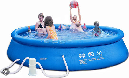 Summer stars easy set up zwembad 244 cm for Filterpomp zwembad