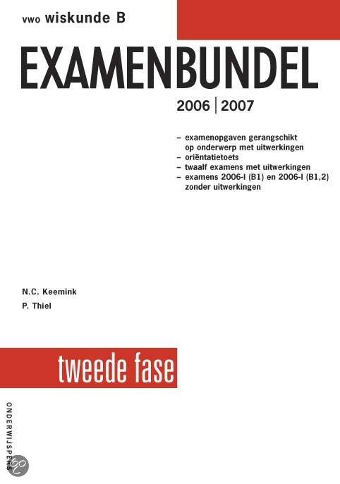 Vwo Wiskunde-B Examenbundel 2E Fase