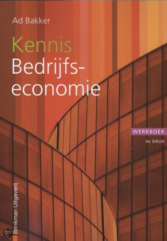 Kennis bedrijfseconomie / deel Werkboek