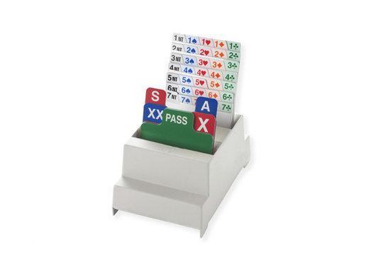 Afbeelding van het spel Set van 4 Bridge Biddingboxen NBB, wit