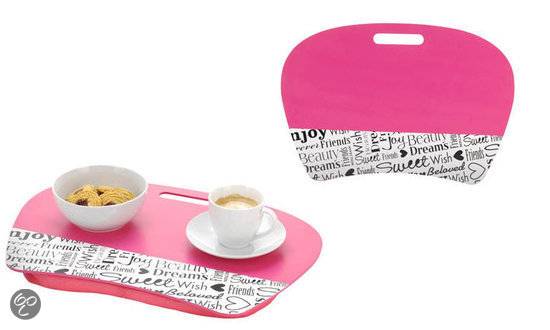 Dsm bedtafel schootkussen laptopkussen roze wonen - Tafel roze kind ...