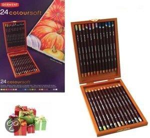 Bolcom Derwent Coloursoft Wood Box 24 Stuks Derwent Speelgoed