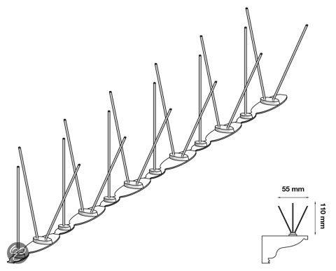 Duivenpinnen Vogelwering U1 (1meter)