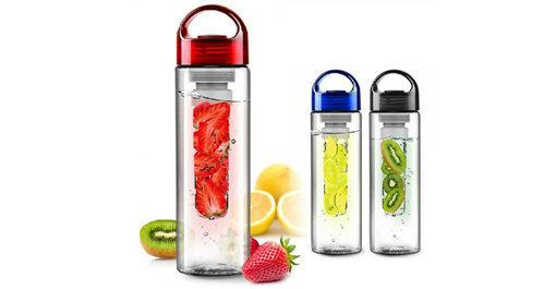 Waterfles met fruit filter