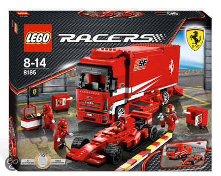 lego racers ferrari truck 8185 lego speelgoed. Black Bedroom Furniture Sets. Home Design Ideas