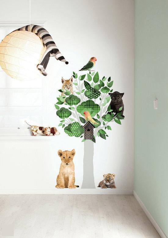 bol.com : KEK Amsterdam - Muurstickers - Safari Friends Tree