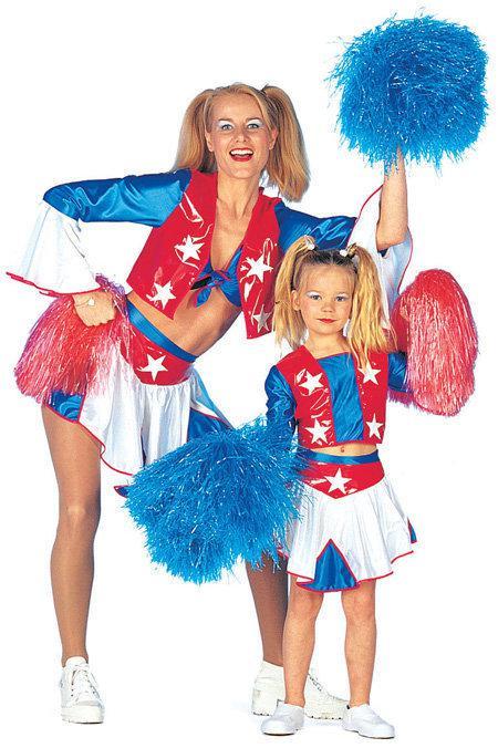Bol Com Carnavalskleding Cheerleader Usa Meisje Maat 140