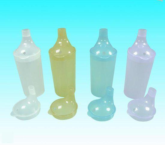 Drinkbeker transparant (beker+2 deksels)