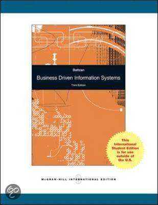 business driven information systems This text presents a refreshing perspective in that the focus is on business activity models, rather than on the systems used to drive them information about.