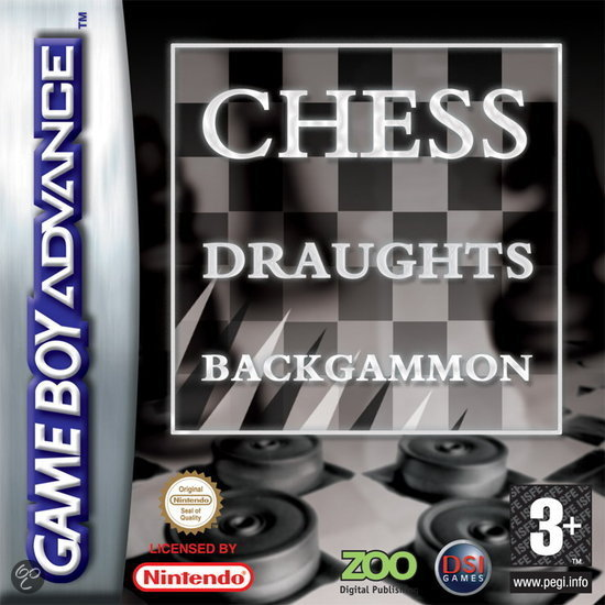 3-Pack Backgammon/Chess/Draughts